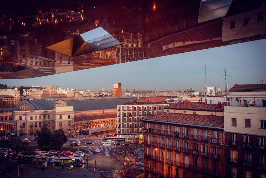 Θέα στην πόλη απ' το νέο κτίριο του Μουσείου Reina Sofía