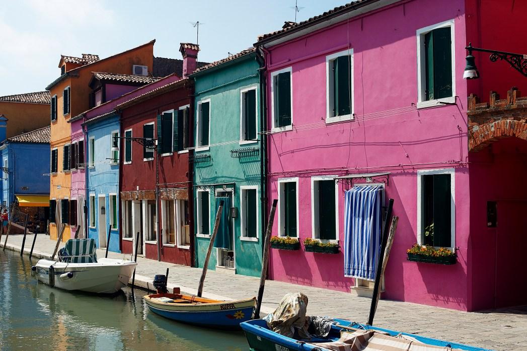 Νησάκι Μπουράνο, χρωματιστά σπίτια, Βενετία