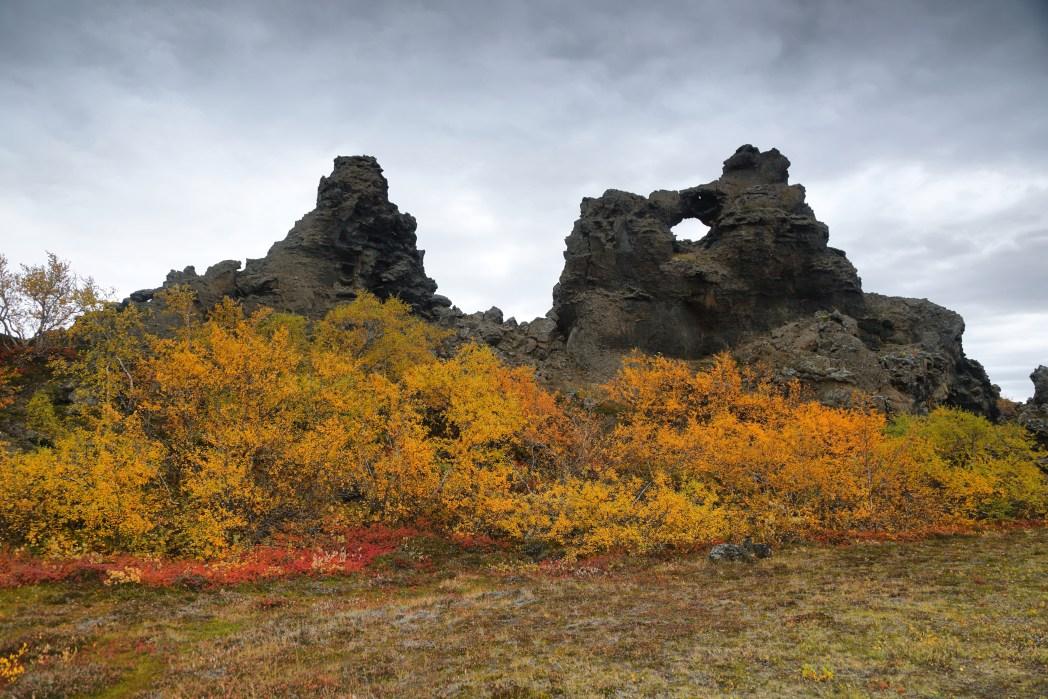 Dimmuborgir στην Ισλανδία