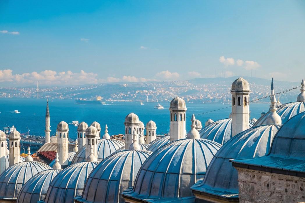 Πανοραμική θέα στην Κωνσταντινούπολη, Τουρκία