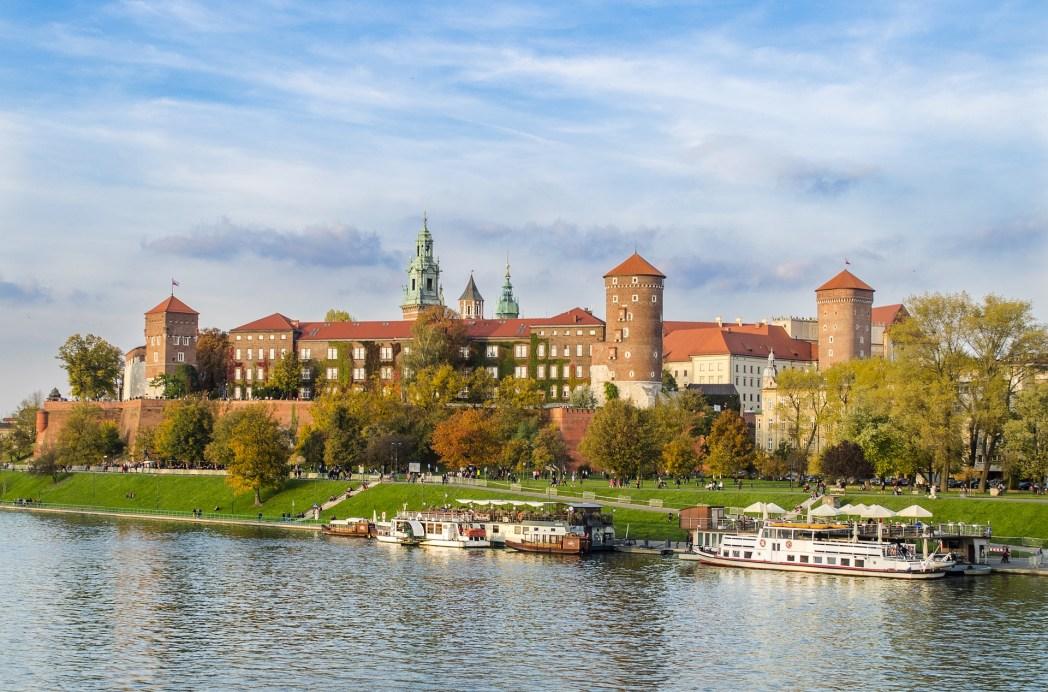 To Kάστρο της Βαβέλ πάνω απ' τον Βιστούλα στην Κρακοβία