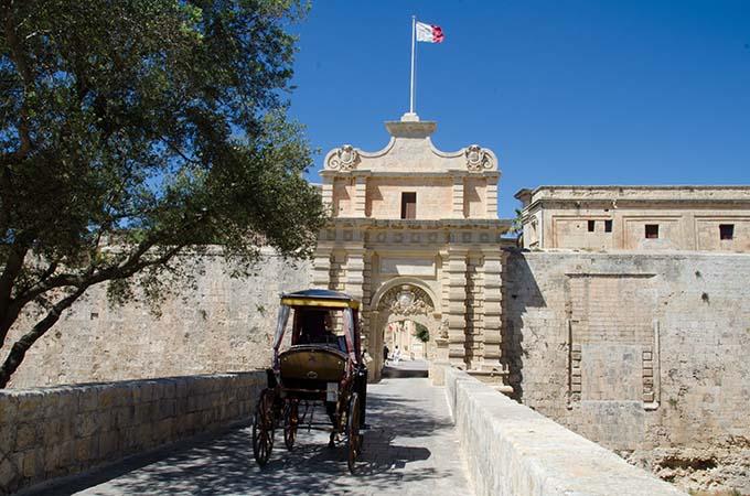 Η Πύλη της Μντίνα στη Μάλτα