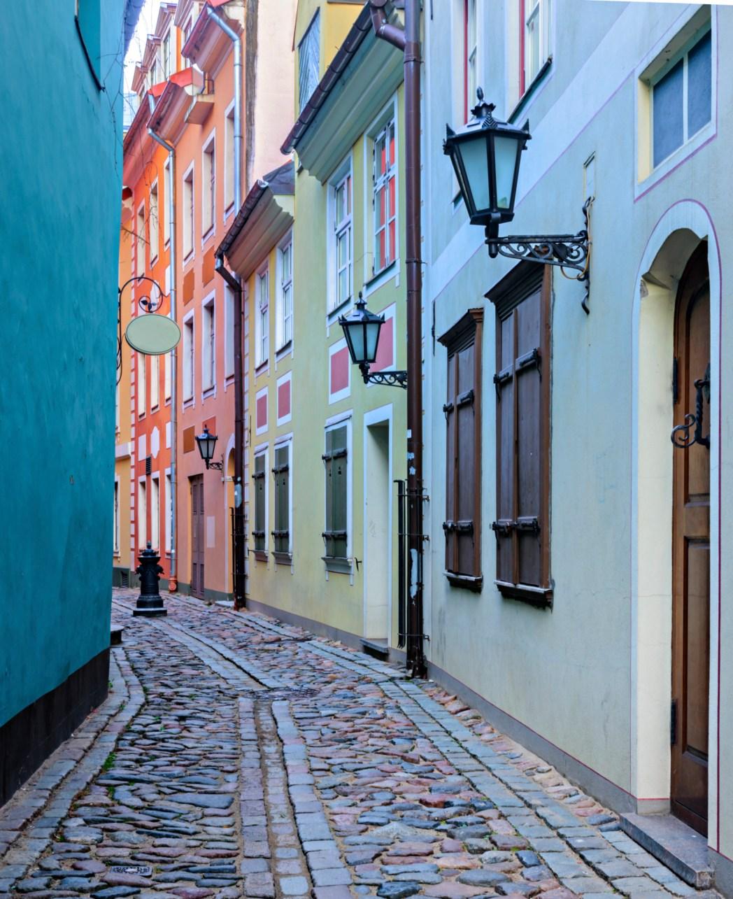 Γραφικό στενάκι στη Ρίγα της Λετονίας